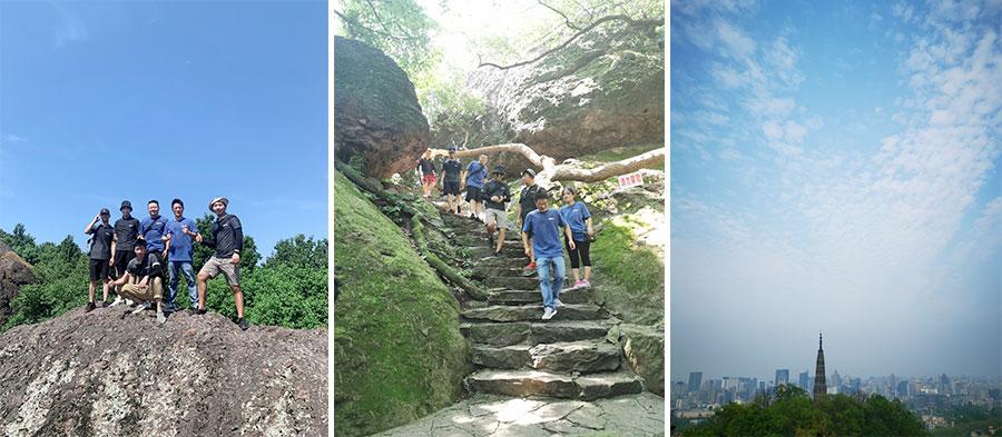 Sotto i 40 gradi, cammina per 12 km, vedi la forte squadra d'oltremare di IECHO !!!