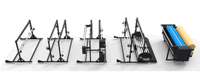 Vari dispositivi di caricamento del materiale