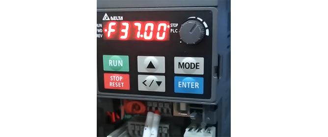 Pump frequency control system